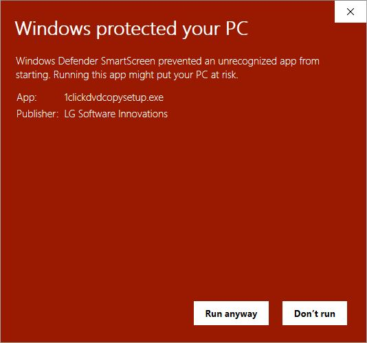 Windows Defender Warning 2